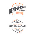 set of car rental service elements can be used vector image