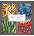 Set of four colorful intricate patterns vector image