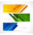 Set of lined banners vector image