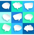 Set of speech bubbles on colorful background vector image