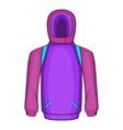 Snowboarder jacket icon cartoon style vector image vector image