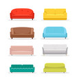 sofa flat icon furniture interior couch vector image vector image
