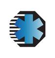 star life an ambulance logo design for medical vector image