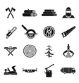 Timber industry icons set simple style vector image vector image
