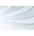 Transparent wavy banner template vector image