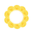 yellow dahlia banner wreath vector image vector image