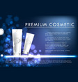 cosmetic product poster white bottle package vector image