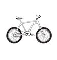 Hand drawn bycicle icon vector image