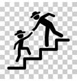 gentleman education steps icon vector image