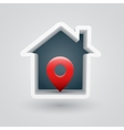 House pin vector image