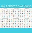 180 modern flat icon set of education online vector image vector image