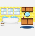 a bathroom interior background vector image