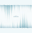 abstract of blue circle line pattern vertical vector image vector image