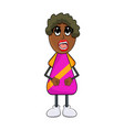 african black woman cartoon isolated on white vector image