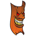 Angry wooden mask vector image