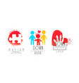 autism and down syndrome logo templates collection