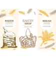 Bakery Banner Vertical Hand Draw Sketch vector image