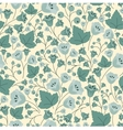 Bellflowers berries and leaves seamless pattern