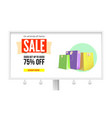 billboard with advertising of sales get discount vector image vector image