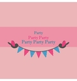 birds holding bunting for party vector image vector image