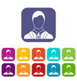 Businessman with identity name card icons set