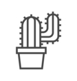 Cactus Line Icon vector image