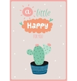 card with house plants in pot vector image