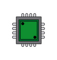 circuit board processor and chip engineering and vector image