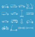 collection transport icons in line style vector image