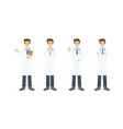 collection young doctor in work unifrom in vector image vector image