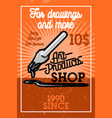 color vintage art products shop banner vector image vector image