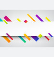 colorful abstract background on white vector image