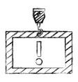 construction board hanging icon vector image vector image