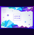 creative geometric wallpaper facet banner vector image
