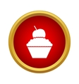 Cupcake icon in simple style vector image vector image