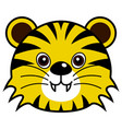 cute tiger cute animal faces vector image vector image