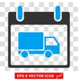 Delivery Car Calendar Day Eps Icon vector image vector image