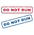 Do Not Run Rubber Stamps vector image vector image