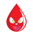 donate drop blood logo donor concept blood icon vector image vector image