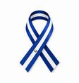 el salvadoran flag stripe ribbon on white vector image vector image