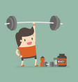 fitness concept vector image vector image