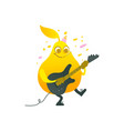 flat funny pear fruit character playing vector image vector image