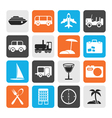 Flat Travel transportation tourism and holiday vector image