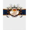 floral coffee vector image vector image