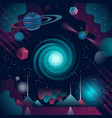 futuristic and abstract cosmos background vector image vector image