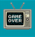 game over on tv pop art vector image vector image