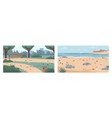 garbage on seashore beach litter on ground in park vector image vector image
