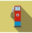 Gasoline refueling flat icon with a shadow vector image