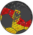 germany flag with soccer ball background vector image