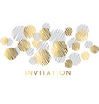 gold and gray geometric luxury design vector image vector image